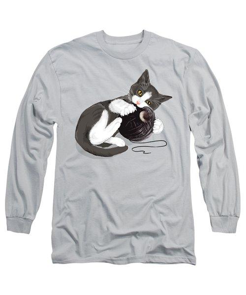 Death Star Kitty Long Sleeve T-Shirt