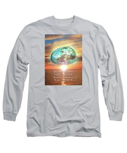 December Birthstone Turquoise Long Sleeve T-Shirt