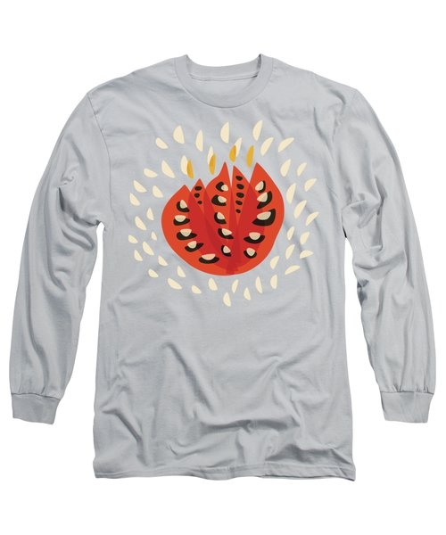 Decorative Beautiful Abstract Tulip Long Sleeve T-Shirt