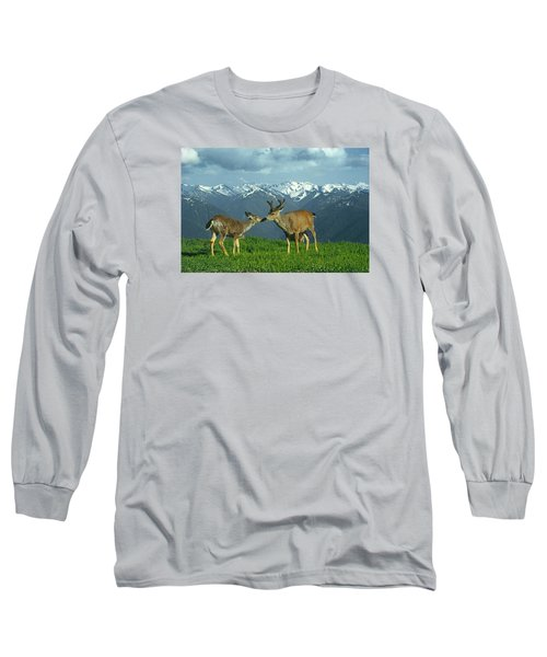 Ma-181-deer In Love  Long Sleeve T-Shirt