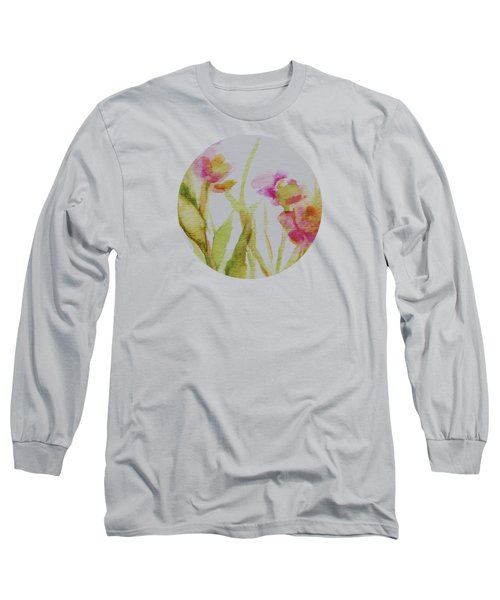 Delicate Blossoms Long Sleeve T-Shirt by Mary Wolf