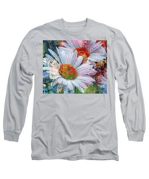 Delightful Daisies Long Sleeve T-Shirt by Annie Zeno