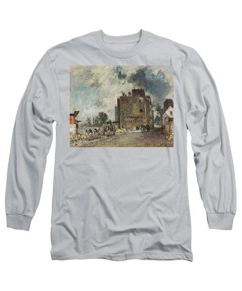 Demolition Work In Rue Des Franc -bourgeois St. Marcel Long Sleeve T-Shirt