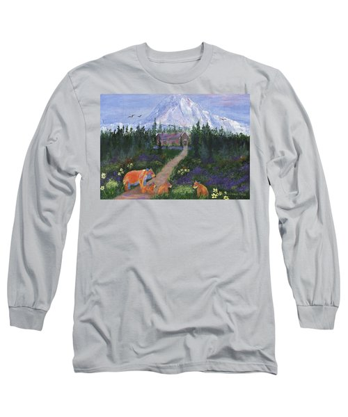 Long Sleeve T-Shirt featuring the painting Denali by Jamie Frier