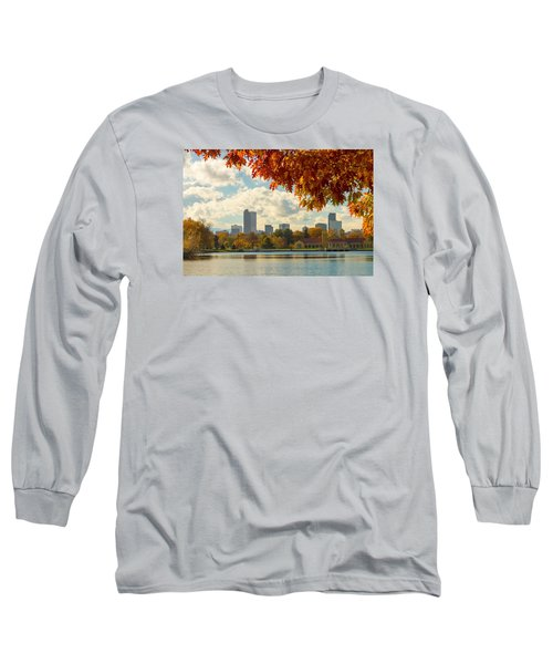 Denver Skyline Fall Foliage View Long Sleeve T-Shirt