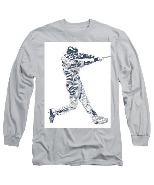 Derek Jeter New York Yankees Pixel Art 10 Long Sleeve T-Shirt