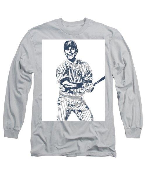Derek Jeter New York Yankees Pixel Art 13 Long Sleeve T-Shirt