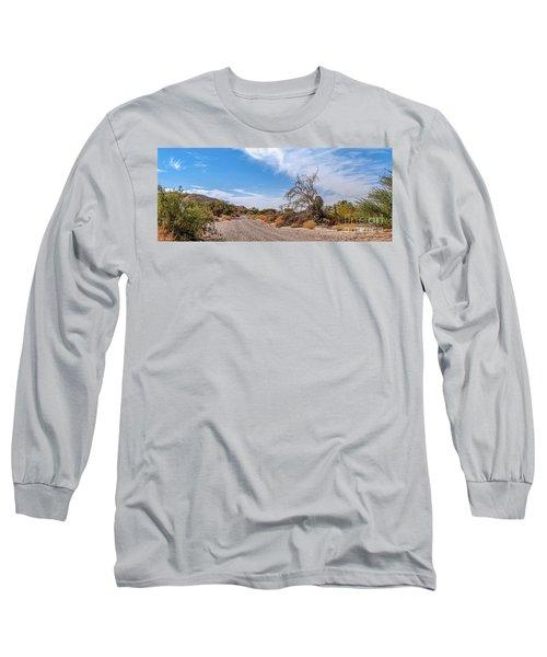 Long Sleeve T-Shirt featuring the photograph Desert Road by Arik Baltinester
