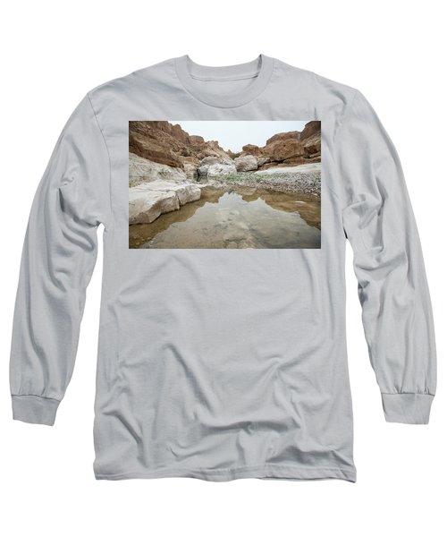 Desert Water Long Sleeve T-Shirt by Yoel Koskas