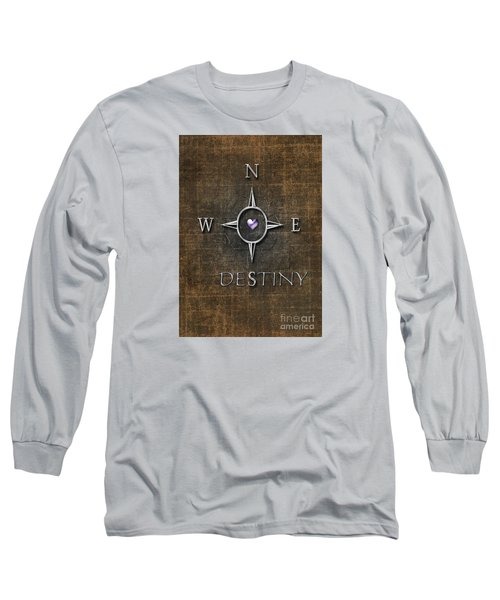 Long Sleeve T-Shirt featuring the digital art Destiny by Linda Prewer