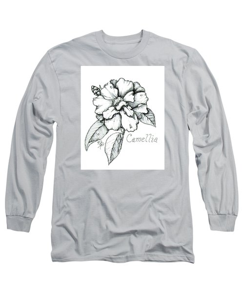 Dew Kissed Camellia Long Sleeve T-Shirt