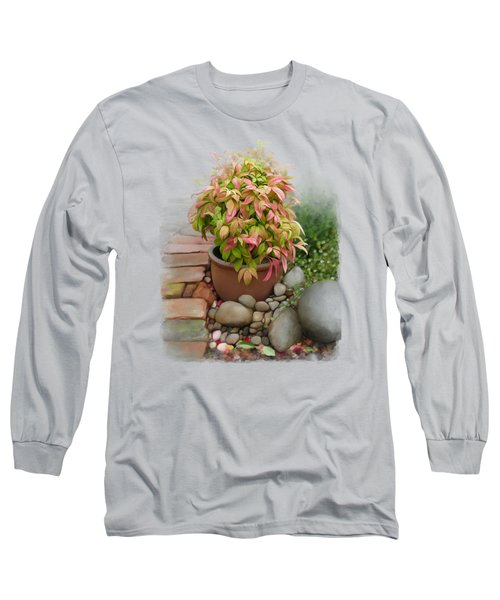Dew On Leaves Long Sleeve T-Shirt by Ivana Westin