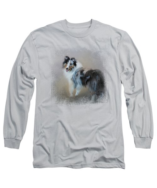 Did You Call Me - Blue Merle Shetland Sheepdog Long Sleeve T-Shirt