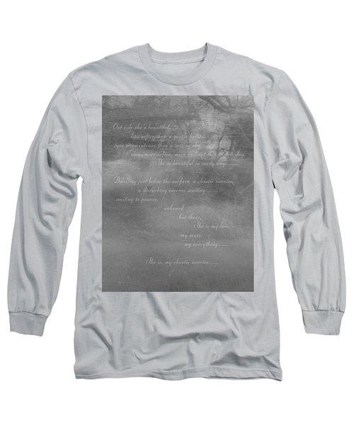 Digital Poem Long Sleeve T-Shirt