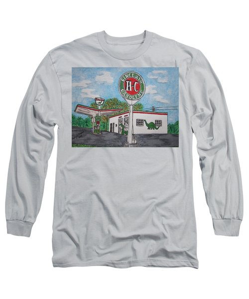 Dino Sinclair Gas Station Long Sleeve T-Shirt