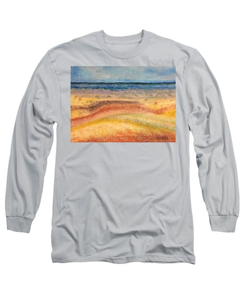 Long Sleeve T-Shirt featuring the painting Distance by Norma Duch
