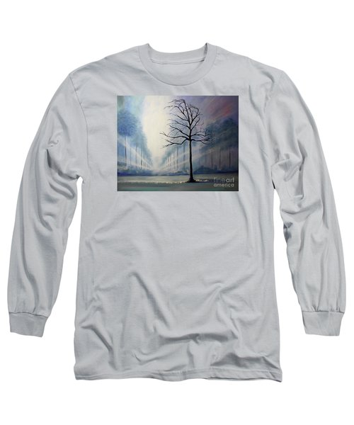 Long Sleeve T-Shirt featuring the painting Divine Serenity by Stacey Zimmerman