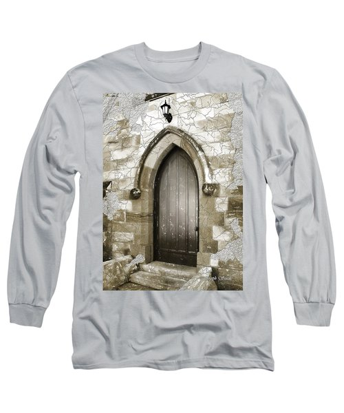 Long Sleeve T-Shirt featuring the photograph Do-00055 Chapels Door In Morpeth Village by Digital Oil