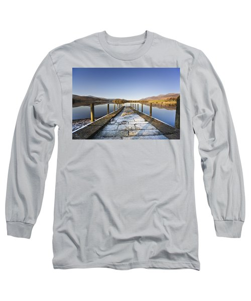 Dock In A Lake, Cumbria, England Long Sleeve T-Shirt