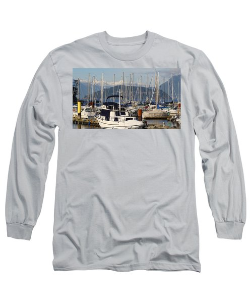 Long Sleeve T-Shirt featuring the painting Docked For The Day by Rod Jellison
