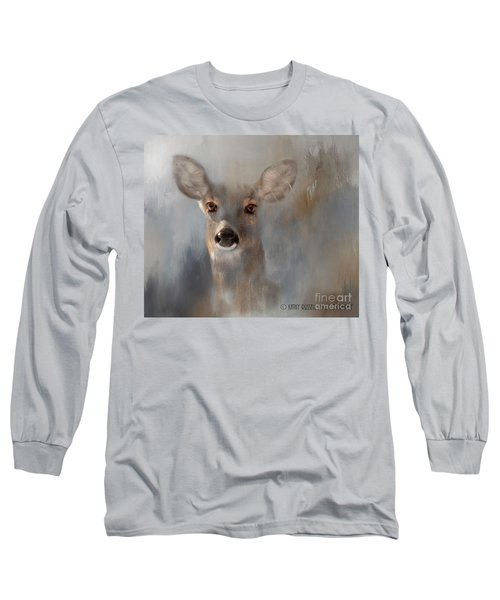 Doe Eyes Long Sleeve T-Shirt by Kathy Russell