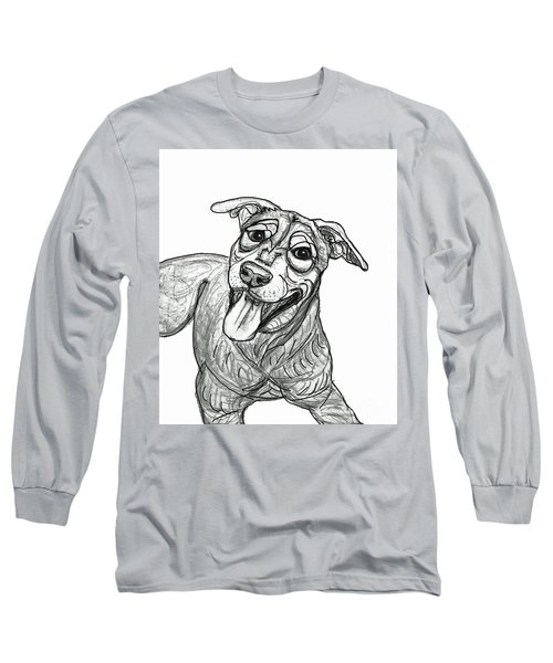Dog Sketch In Charcoal 5 Long Sleeve T-Shirt