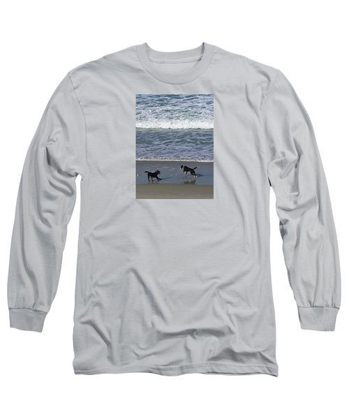 Long Sleeve T-Shirt featuring the photograph Doggie Fun by Nareeta Martin