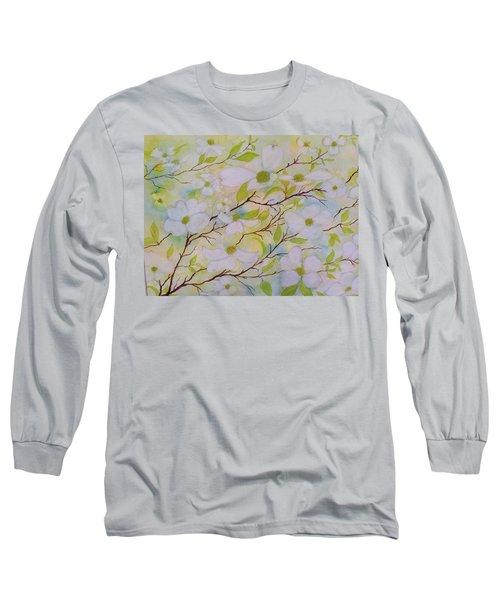 Dogwood Blossoms Long Sleeve T-Shirt