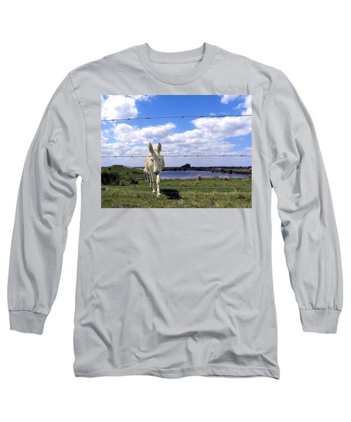 Long Sleeve T-Shirt featuring the photograph Don't Fence Me In 002 by Chris Mercer