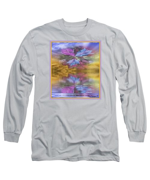 Long Sleeve T-Shirt featuring the mixed media Dont Go Away by Ray Tapajna