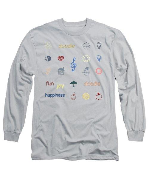 Doodle Long Sleeve T-Shirt by Jutta Maria Pusl
