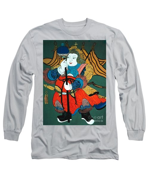 Long Sleeve T-Shirt featuring the painting Door Guard No.2 by Fei A