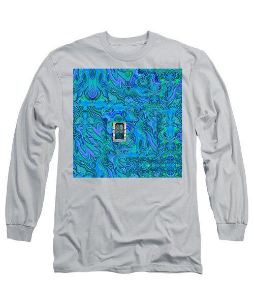 Doorway Into Multi-layers Of Water Art Collage Long Sleeve T-Shirt