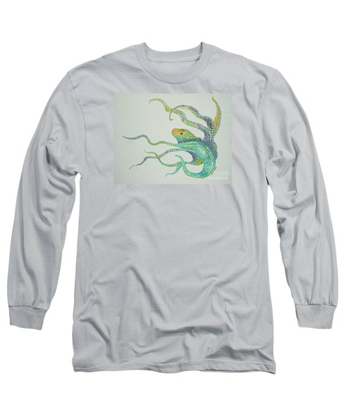 Dot Octopus Long Sleeve T-Shirt by Tamyra Crossley