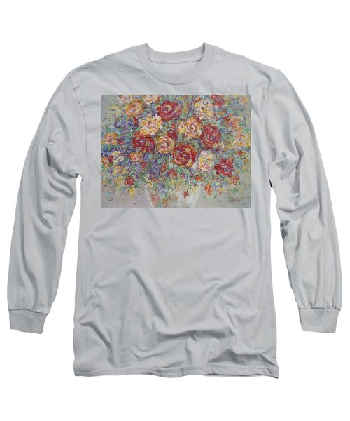 Long Sleeve T-Shirt featuring the painting Double Delight. by Natalie Holland