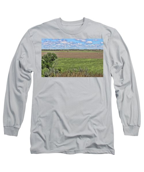 Down In The Valley Long Sleeve T-Shirt by Sylvia Thornton
