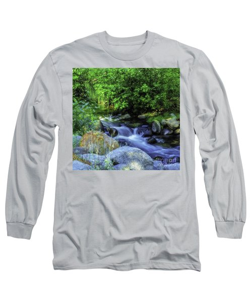 Long Sleeve T-Shirt featuring the photograph Down Stream by Nancy Marie Ricketts