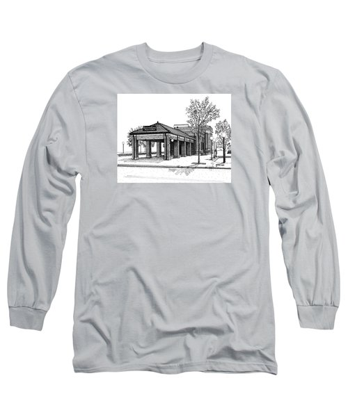Downers Grove Main Street Train Station Long Sleeve T-Shirt