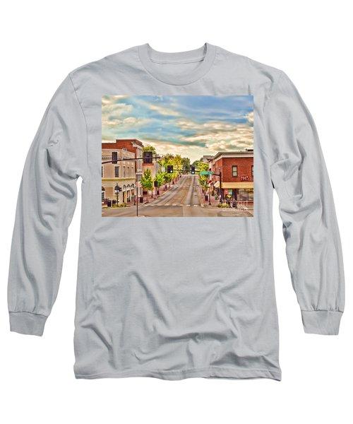 Downtown Blacksburg Long Sleeve T-Shirt by Kerri Farley