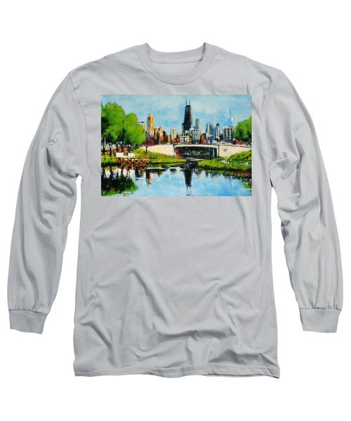 Downtown Chicago From Lincoln Park Long Sleeve T-Shirt