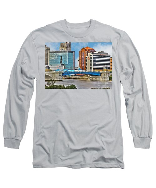 Downtown Toledo Riverfront Long Sleeve T-Shirt