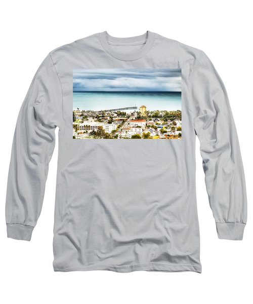 Downtown Ventura And Pier Long Sleeve T-Shirt by Joe  Palermo