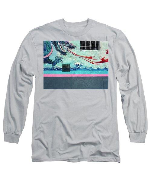 Dragon Breath Long Sleeve T-Shirt by Jan W Faul