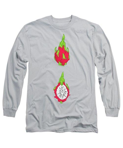 Dragon Fruit Long Sleeve T-Shirt by Evgenia Chuvardina