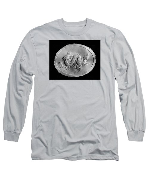 Long Sleeve T-Shirt featuring the relief Dragon by Suhas Tavkar