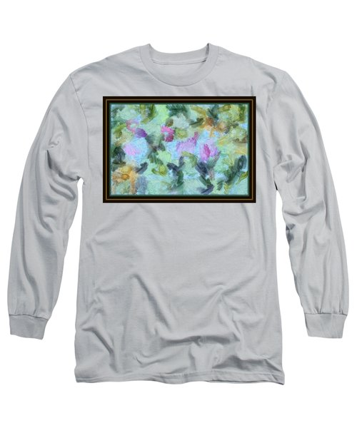 Long Sleeve T-Shirt featuring the mixed media Dream Bigger by Trish Tritz