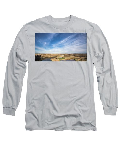 Dry Fall, Washington Long Sleeve T-Shirt by Jingjits Photography