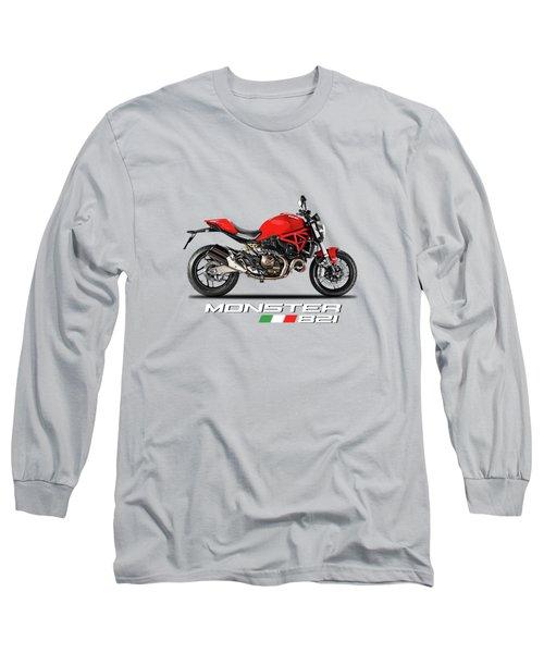 Ducati Monster 821 Long Sleeve T-Shirt by Mark Rogan