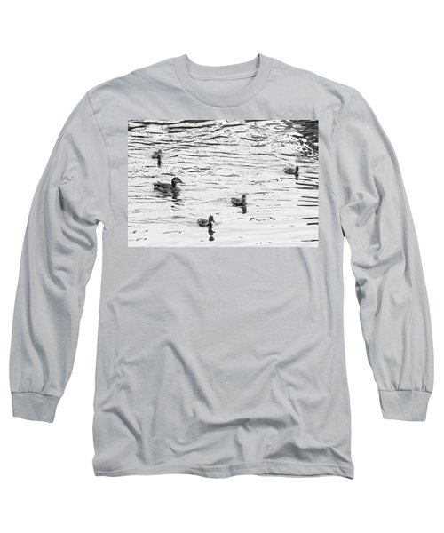 Duck And Ducklings Long Sleeve T-Shirt