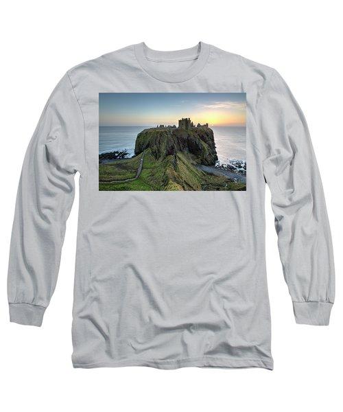 Dunnottar Castle At Sunrise Long Sleeve T-Shirt